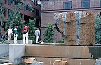 San Francisco: Levi Strauss Plaza--Fountain. Lawrence Halprin.  Photo '84.