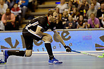 Berlin, Germany, February 10: During the FIH Indoor Hockey World Cup semi-final match between Germany (black) and Iran (white) on February 10, 2018 at Max-Schmeling-Halle in Berlin, Germany. Final score 6-2. (Photo by Dirk Markgraf / www.265-images.com) *** Local caption *** Fabian PEHLKE #23 of Germany
