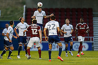 during the The Checkatrade Trophy match between Northampton Town and Wycombe Wanderers at Sixfields Stadium, Northampton, England on 30 August 2016. Photo by David Horn / PRiME Media Images.
