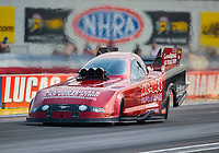 Sep 6, 2020; Clermont, Indiana, United States; NHRA funny car driver Bob Bode during the US Nationals at Lucas Oil Raceway. Mandatory Credit: Mark J. Rebilas-USA TODAY Sports