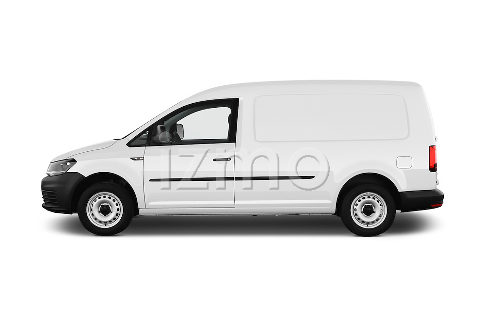 Car Driver side profile view of a 2016 Volkswagen Caddy Maxi Van - 5 Door Car Van Side View