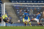 Jamie Longworth scores the equaliser for Stranraer on 90 mins