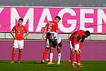 Nach Spielende, v.li: Dominik SCHAD (1. FC Kaiserslautern), Kevin KRAUS (1. FC Kaiserslautern), Joseph BOYAMBA (SV Waldhof Mannheim) und Anil GOEZUETOK (fck) beim Spiel in der 3. Liga, 1. FC Kaiserslautern - SV Waldhof Mannheim.<br /> <br /> Foto © PIX-Sportfotos *** Foto ist honorarpflichtig! *** Auf Anfrage in hoeherer Qualitaet/Aufloesung. Belegexemplar erbeten. Veroeffentlichung ausschliesslich fuer journalistisch-publizistische Zwecke. For editorial use only. DFL regulations prohibit any use of photographs as image sequences and/or quasi-video.