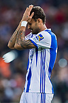 Willian Jose da Silva of Real Sociedad reacts during their La Liga match between Atletico de Madrid vs Real Sociedad at the Vicente Calderon Stadium on 04 April 2017 in Madrid, Spain. Photo by Diego Gonzalez Souto / Power Sport Images