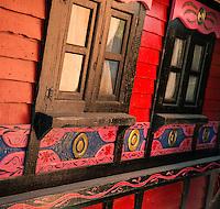 Gypsy caravan detail, Ireland