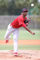 GCL Cardinals Ronnie Williams (23) throws a pitch during a game against the GCL Mets on July 7th, 2014 at the Roger Dean Complex in Jupiter, Florida. GCL Mets defeated GCL Cardinals 6-2. (Stacy Jo Grant/Four Seam Images)