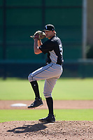 Chicago White Sox pitcher Will Kincanon (54) delivers a pitch to the plate during an Instructional League game against the Los Angeles Dodgers on September 30, 2017 at Camelback Ranch in Glendale, Arizona. (Zachary Lucy/Four Seam Images)