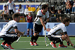 NED - Amsterdam, Netherlands, August 20: During the men Pool B group match between Germany (white) and Ireland (green) at the Rabo EuroHockey Championships 2017 August 20, 2017 at Wagener Stadium in Amsterdam, Netherlands. Final score 1-1. (Photo by Dirk Markgraf / www.265-images.com) *** Local caption *** (c) Lukas Windfeder #4 of Germany