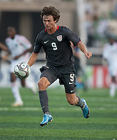 Jack McInerney dribbles the ball. US Men's National Team Under 17 defeated Malawi 1-0 in the second game of the FIFA 2009 Under-17 World Cup at Sani Abacha Stadium in Kano, Nigeria on October 29, 2009.