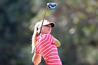 CHAPEL HILL, NC - OCTOBER 13: Lauren Peter of the Ohio State University tees off at UNC Finley Golf Course on October 13, 2019 in Chapel Hill, North Carolina.