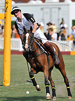 NEW YORK - JUNE 27: H.R.H Prince Harry competes for the Blackrock team during the 2010 Veuve Clicquot Manhatten Polo Classic on Governors Island on June 27, 2010 in New York City.<br /> <br /> People:  Prince Harry