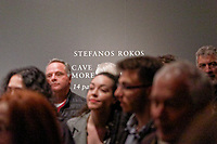 "Pictured: Hundreds of guests attended the exhibition. Wednesday 03 April 2019<br /> Re: Official opening of Stefanos Rokos' exhibition ""No More Shall We Part"" with paintings based on the 2001 Nick Cave and The Bad Seeds album with the same title, Benaki Museum, Athens, Greece."