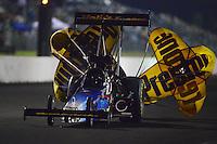 May 18, 2012; Topeka, KS, USA: NHRA top fuel dragster driver Cory McClenathan during qualifying for the Summer Nationals at Heartland Park Topeka. Mandatory Credit: Mark J. Rebilas-
