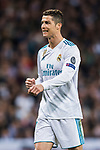 Cristiano Ronaldo of Real Madrid reacts during the UEFA Champions League 2017-18 Round of 16 (1st leg) match between Real Madrid vs Paris Saint Germain at Estadio Santiago Bernabeu on February 14 2018 in Madrid, Spain. Photo by Diego Souto / Power Sport Images