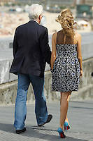 Richard Gere and his girlfriend Alejandra Silva attend the Invisibles photocall during the 64th San Sebastian film festival at Zurriola beach in San Sebastian, Spain.<br /> San Sebastian Film Festival 2016 <br /> Foto Panoramic / Insidefoto <br /> ITALY ONLY