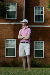 """Will Daly <cq>, 19 and from Somers, CT, stands in front of Residence Hall A, which used to be where his dorm was, on Thursday, January 10, 2008 at Stetson University in DeLand. Daly's dorm was the window in the top left. In two weeks, Stetson U. is hosting a lecture by Judy Shepard, mother of a college student who was murdered in a highly publicized hate crime in Wyoming 10 years ago. Shepard's message is one of tolerance and understanding of gay people, and the driving force behind her appearance is Will Daly. On November 11, 2007, someone carved the word """"FAGS"""" on Daly's dorm room door. Later, Will's roommate, who is also openly gay, saw that someone had written in permanent marker on the laundry room wall """"Death to fags.""""  Daly has decided to leave the university and attend the Art Institute of New York City where he is taking culinary arts on his way to being a chef.  (Daytona Beach News-Journal, Chad Pilster)"""