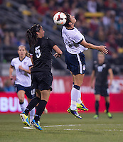 Abby Wambach, Abby Erceg. The USWNT tied New Zealand, 1-1, at an international friendly at Crew Stadium in Columbus, OH.