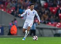 London, England - November 15, 2018:  England defeated the USMNT 3-0 at Wembley Stadium.