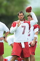 May 20, 2009; Tempe, AZ, USA; Arizona Cardinals quarterback Matt Leinart during organized team activities at the Cardinals practice facility. Mandatory Credit: Mark J. Rebilas-