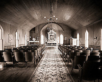 The interior of a church.