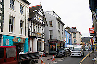 Pictured: Eastgate Street where rugby player Gareth Davies was filmed fighting with two men in Aberystwyth, Wales, UK.<br /> Re: Rugby player Gareth Davies seen on mobile phone footage assaulting people