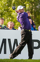 21.05.2015. Wentworth, England. BMW PGA Golf Championship. Round 1.  Anders Hansen [DEN] on the first tee. The first round of the 2015 BMW PGA Championship from The West Course Wentworth Golf Club