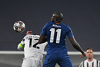 Football Soccer: UEFA Champions League -Round of 16 2nd leg Juventus vs FC Porto, Allianz Stadium. Turin, Italy, March 9, 2021.<br /> Porto's Moussa Marega (R) in action with Juventus' captain Alex Sandro (L) during the Uefa Champions League football soccer match between Juventus and Porto at Allianz Stadium in Turin, on March 9, 2021.<br /> UPDATE IMAGES PRESS/Isabella Bonotto