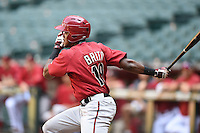 Arizona Diamondbacks outfielder Socrates Brito (19) during an Instructional League game against the Oakland Athletics on October 10, 2014 at Chase Field in Phoenix, Arizona.  (Mike Janes/Four Seam Images)