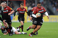 20130324 Copyright onEdition 2013©.Free for editorial use image, please credit: onEdition..Mako Vunipola of Saracens in action during the Premiership Rugby match between Saracens and Harlequins at Allianz Park on Sunday 24th March 2013 (Photo by Rob Munro)..For press contacts contact: Sam Feasey at brandRapport on M: +44 (0)7717 757114 E: SFeasey@brand-rapport.com..If you require a higher resolution image or you have any other onEdition photographic enquiries, please contact onEdition on 0845 900 2 900 or email info@onEdition.com.This image is copyright onEdition 2013©..This image has been supplied by onEdition and must be credited onEdition. The author is asserting his full Moral rights in relation to the publication of this image. Rights for onward transmission of any image or file is not granted or implied. Changing or deleting Copyright information is illegal as specified in the Copyright, Design and Patents Act 1988. If you are in any way unsure of your right to publish this image please contact onEdition on 0845 900 2 900 or email info@onEdition.com