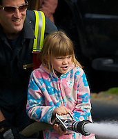 Township of Langley Fire Department Fire Hose Demonstration, Cranberry Festival Fort Langley B.C.