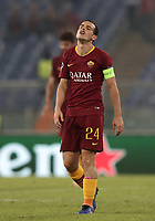 Football Soccer: UEFA Champions League  AS Roma vs PFC CSKA Mosca Stadio Olimpico Rome, Italy, October 23, 2018. <br /> Roma's Alessandro Florenzi celebrates after winning 3-0 the Uefa Champions League football soccer match between AS Roma and PFC CSKA Mosca at Rome's Olympic stadium, October 23, 2018.<br /> UPDATE IMAGES PRESS/Isabella Bonotto
