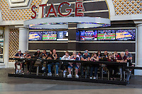 Las Vegas, Nevada.  Fremont Street.  Late Afternoon Customers at the Stage Bar.