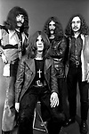 Black Sabbath 1970 Tony Iommi, Ozzy Osbourne, Geezer Butler, Bill Ward..© Chris Walter....