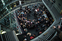 2. NSU-Untersuchungsausschuss des Deutschen Bundestag.<br /> Aufgrund vieler Ungeklaertheiten und Fragen sowie vielen neuen Erkenntnissen ueber moegliche Verstrickungen verschiedener Geheimdienste in das Terror-Netzwerk Nationalsozialistischen Untergrund (NSU) wurde von den Abgeordneten des Bundestgas ein zweiter Untersuchungsausschuss eingesetzt.<br /> Am Donnerstag den 17. Dezember fand die 1. oeffentliche Sitzung des 2. NSU-Untersuchungsausschuss des Deutschen Bundestag statt.<br /> Im Bild: Armin Schuster, Polizeidirektor a.D. und Mitglied fuer die CDU im Ausschuss, bei seinem Pressestatement.<br /> 17.12.2015, Berlin<br /> Copyright: Christian-Ditsch.de<br /> [Inhaltsveraendernde Manipulation des Fotos nur nach ausdruecklicher Genehmigung des Fotografen. Vereinbarungen ueber Abtretung von Persoenlichkeitsrechten/Model Release der abgebildeten Person/Personen liegen nicht vor. NO MODEL RELEASE! Nur fuer Redaktionelle Zwecke. Don't publish without copyright Christian-Ditsch.de, Veroeffentlichung nur mit Fotografennennung, sowie gegen Honorar, MwSt. und Beleg. Konto: I N G - D i B a, IBAN DE58500105175400192269, BIC INGDDEFFXXX, Kontakt: post@christian-ditsch.de<br /> Bei der Bearbeitung der Dateiinformationen darf die Urheberkennzeichnung in den EXIF- und  IPTC-Daten nicht entfernt werden, diese sind in digitalen Medien nach §95c UrhG rechtlich geschuetzt. Der Urhebervermerk wird gemaess §13 UrhG verlangt.]