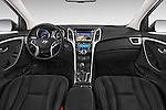 Stock photo of straight dashboard view of 2015 Hyundai I30 Joy 5 Door Hatchback