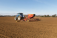 8-3-2021 Drilling Spring Barley in Lincolnshire <br /> ©Tim Scrivener Photographer 07850 303986<br />      ....Covering Agriculture In The UK....