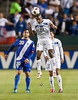 CARSON, CA – June 6, 2011: Honduran Brayan Beckeles (24) during the match between Guatemala and Honduras at the Home Depot Center in Carson, California. Final score Guatemala 0, Honduras 0.