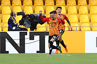 Roberto Insigne of Benevento Calcio celebrates with team mates after scoring a goal<br /> during the Serie A football match between Benevento Calcio and SSC Napoli at stadio Ciro Vigorito in Benevento (Italy), October 25th, 2020. <br /> Photo Cesare Purini / Insidefoto