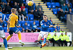 St Johnstone v Kilmarnock…31.08.19   McDiarmid Park   SPFL<br />Michael O'Halloran shoots over<br />Picture by Graeme Hart.<br />Copyright Perthshire Picture Agency<br />Tel: 01738 623350  Mobile: 07990 594431