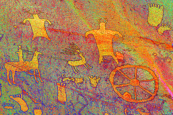 Colorized Newspaper Rock #2