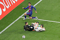 Sevilla FC's David Soria (d-l) and Sergio Escudero (d-r) and FC Barcelona's Philippe Coutinho during Spanish King's Cup Final match. April 21,2018. (ALTERPHOTOS/Acero)