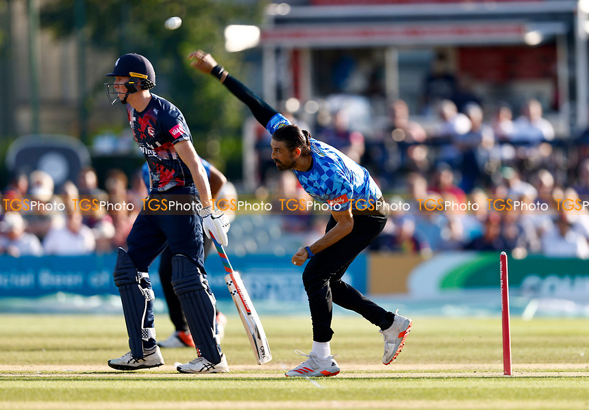 David Wiese bowls for Sussex during Kent Spitfires vs Sussex Sharks, Vitality Blast T20 Cricket at The Spitfire Ground on 18th July 2021