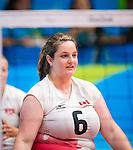 Leanne Muldrew, Rio 2016 - Sitting Volleyball // Volleyball assis.<br /> Canada competes against Ukraine in the Women's Sitting Volleyball Preliminary // Le Canada affronte l'Ukraine dans le tournoi préliminaire de volleyball assis féminin. 13/09/2016.