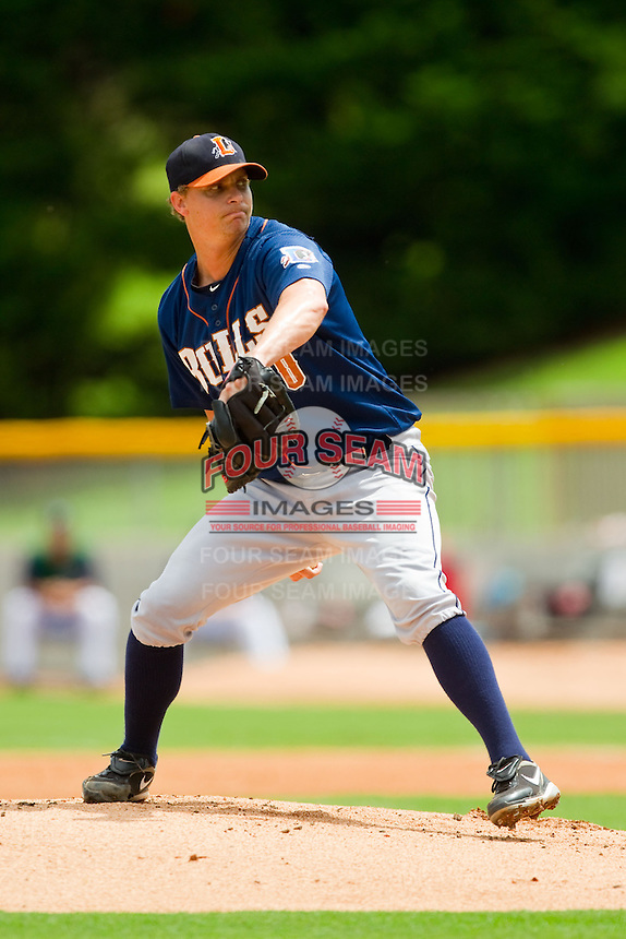 Durham Bulls starting pitcher J.D. Martin (30) in action against the Charlotte Knights at Knights Stadium on August 18, 2013 in Fort Mill, South Carolina.  The Bulls defeated the Knights 8-5 in Game One of a double-header.  (Brian Westerholt/Four Seam Images)
