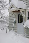 Door to house after big snow storm.