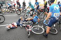 29th August 2020, Nice, France;  EG Niklas of Trek - Segafredo, SOLER Marc of Movistar Team during stage 1 of the 107th edition of the 2020 Tour de France cycling race, a stage of 156 kms with start in Nice Moyen Pays and finish in Nice