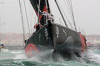PUMA RACING TEAM .VOLVO OCEAN RACE 2008-2009 start in Alicante, Spain, 11/10/2008