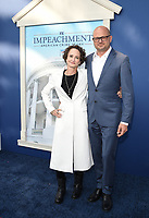 """WEST HOLLYWOOD - SEPT 1: Executive Producers Nina Jacobson and Brad Simpson attend a red carpet event for FX's """"Impeachment: American Crime Story"""" at Pacific Design Center on September 1, 2021 in West Hollywood, California. (Photo by Frank Micelotta/FX/PictureGroup)"""