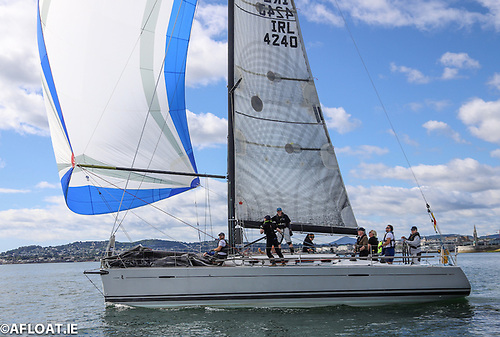 ne hundred and thirty six years down the line, and the DBSC racing goes on – in 2020, Patrick Burke's First 40 Prima Forte was winner of the Dun Laoghaire Harbour Trophy for the best new DBSC yacht.  Photo: Afloat.ie/David O'Brien