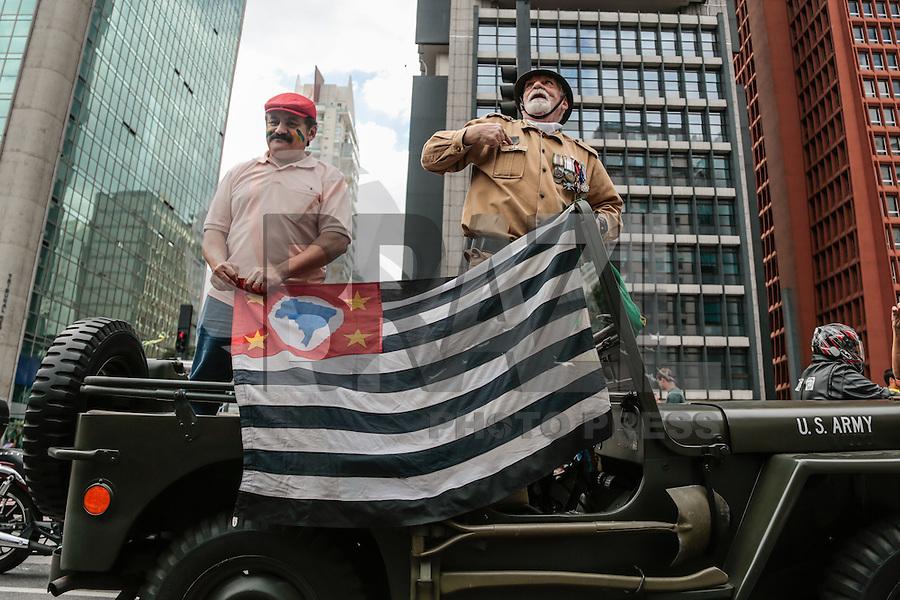 SÃO PAULO,SP, 16.08.2015 - PROTESTO-DILMA - Manifestantes durante ato contra o governo Dilma Rousseff (Partido dos Trabalhadores) na Avenida Paulista em São Paulo, neste domingo, 16.  (Foto: Adriana Spaca/Brazil Photo Press)